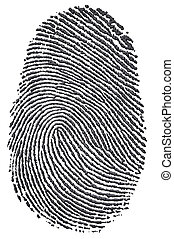 Carbon Fingerprint - Carbon fingerprint made from a photo of...