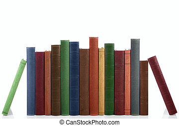 Row of old books. - Old books in a row, all hardbacks some...