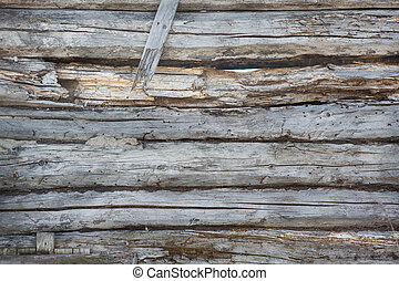 wooden timbered wall - old wooden timbered wall background