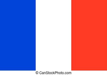 Official national flag of France background closeup vector