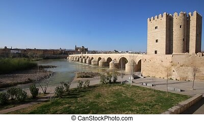 The Roman bridge of Cordoba, Spain