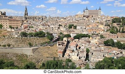 View of Toledo With Alcazar On Top,Medieval Town,Spain