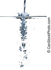Water splash - The effect of running water above and below...