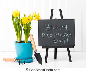 Mothers Day Message - Beautiful spring daffodils and a...