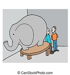 business meeting elephant in the room