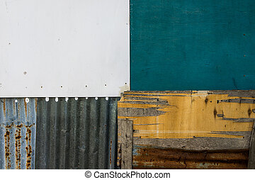 A quadrant of textures - A shot of colorful textures in...
