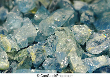 blue aquamarine mineral as very nice natural background