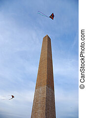 Kite and George Washington Monument - Kite and George...