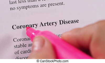 Medical Condition Coronary Disease - Close up shot of a...