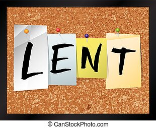 Lent Bulletin Board Theme Illustration - An illustration of...