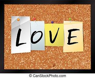 Love Bulletin Board Theme Illustration - An illustration of...