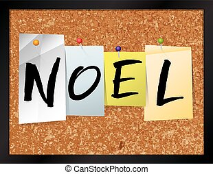 Noel Bulletin Board Theme Illustration - An illustration of...