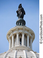Statue of Freedom over Capitol Hill, Washington DC - Statue...