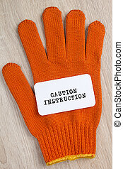 Construction protective glove and Card - Construction...