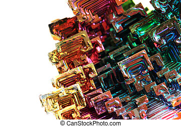 Bismuth - rainbow metal background - Bismuth - rainbow metal...