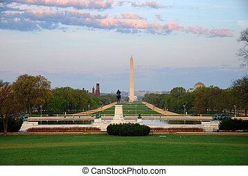 National Mall, Washington DC. - National Mall with...