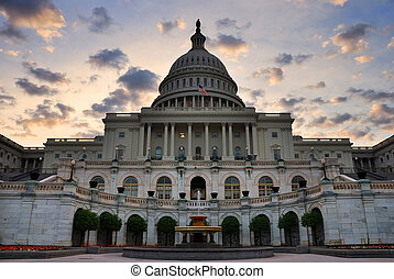 Capitol Hill Building closeup, Washington DC - Capitol hill...