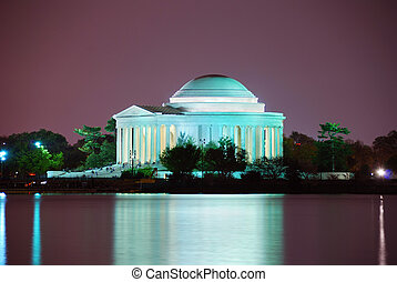 Thomas Jefferson Memorial closeup, Washington DC - Thomas...