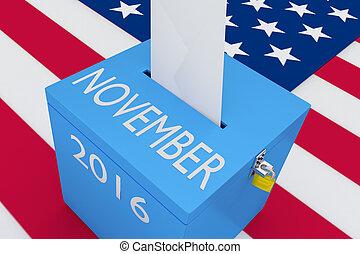 November 2016 election concept - 3D illustration of...