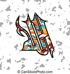 islamic abstract calligraphy art theme vector illustration