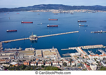 Gibraltar Quay and Bay from Above