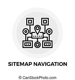 Sitemap Navigation Line Icon - Sitemap Navigation icon...