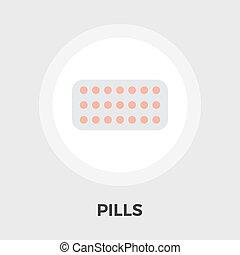 Contraceptive pills vector flat icon - Contraceptive pills...