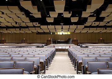 Interior of Auditorium Seating