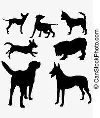Dog Pet Silhouettes