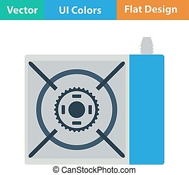 Icon of camping gas burner stove