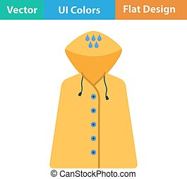 Flat design icon of raincoat in ui colors Vector...
