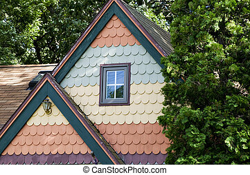 Colorful Cottage at Lake Okoboji, Iowa