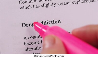 Medical Condition Drug Addiction - Close up shot of a person...