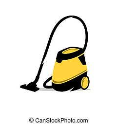 Vector Vacuum Cleaner Cartoon Illustration. - Equipment for...