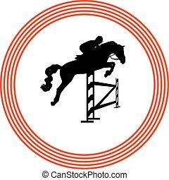 jockey and horse