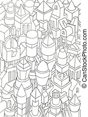 drawing of geometric forms on a paper - geometric forms...