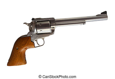 Revolver - Stainless steel revolver chambered for forty four...
