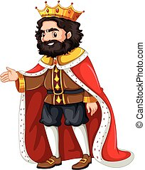 King with red robe illustration