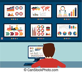 Analytic information, info graphic and development website...