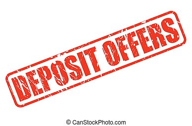 DEPOSIT OFFERS red stamp text on white