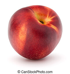 Nectarine fruit isolated on white background close up -...