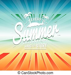 Colorful summer poster