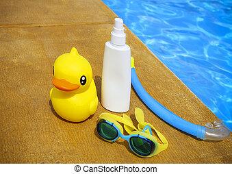 Suncream, Snorkel, Okulary ochronne, i, Żółty,...