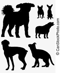 Dog Pet Silhouettes