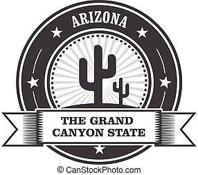 Arizona state round stamp