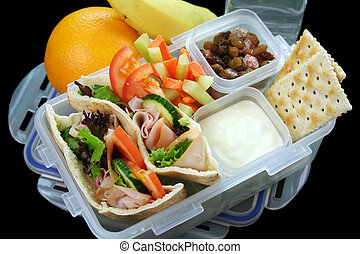 Healthy Kids Lunch Box - Healthy kid\'s lunch box made up of...