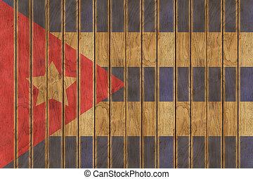 Wooden Cuban Flag