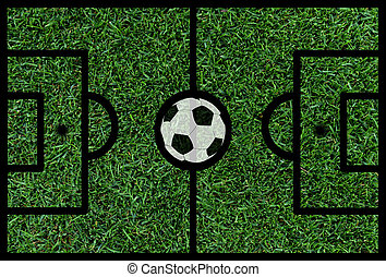 football soccer pitch with ball