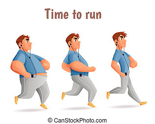 Different body types of men, men run - Evolution Slimming...