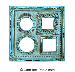 Picture photo frame antique of blue color - Picture photo...